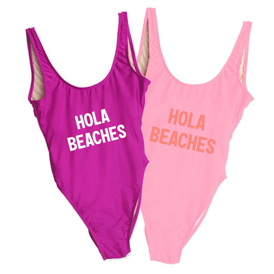 Hola Beaches Swimsuit - Sprinkled With Pink #bachelorette #custom #gifts