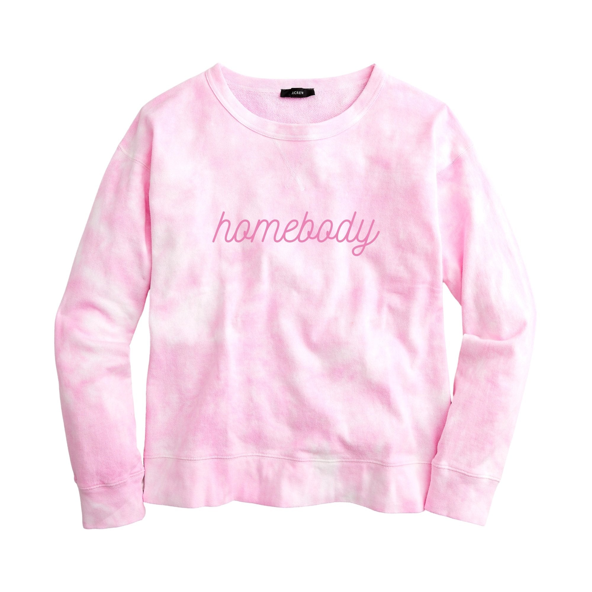 Homebody Sweatshirt - Pink Tie Dye