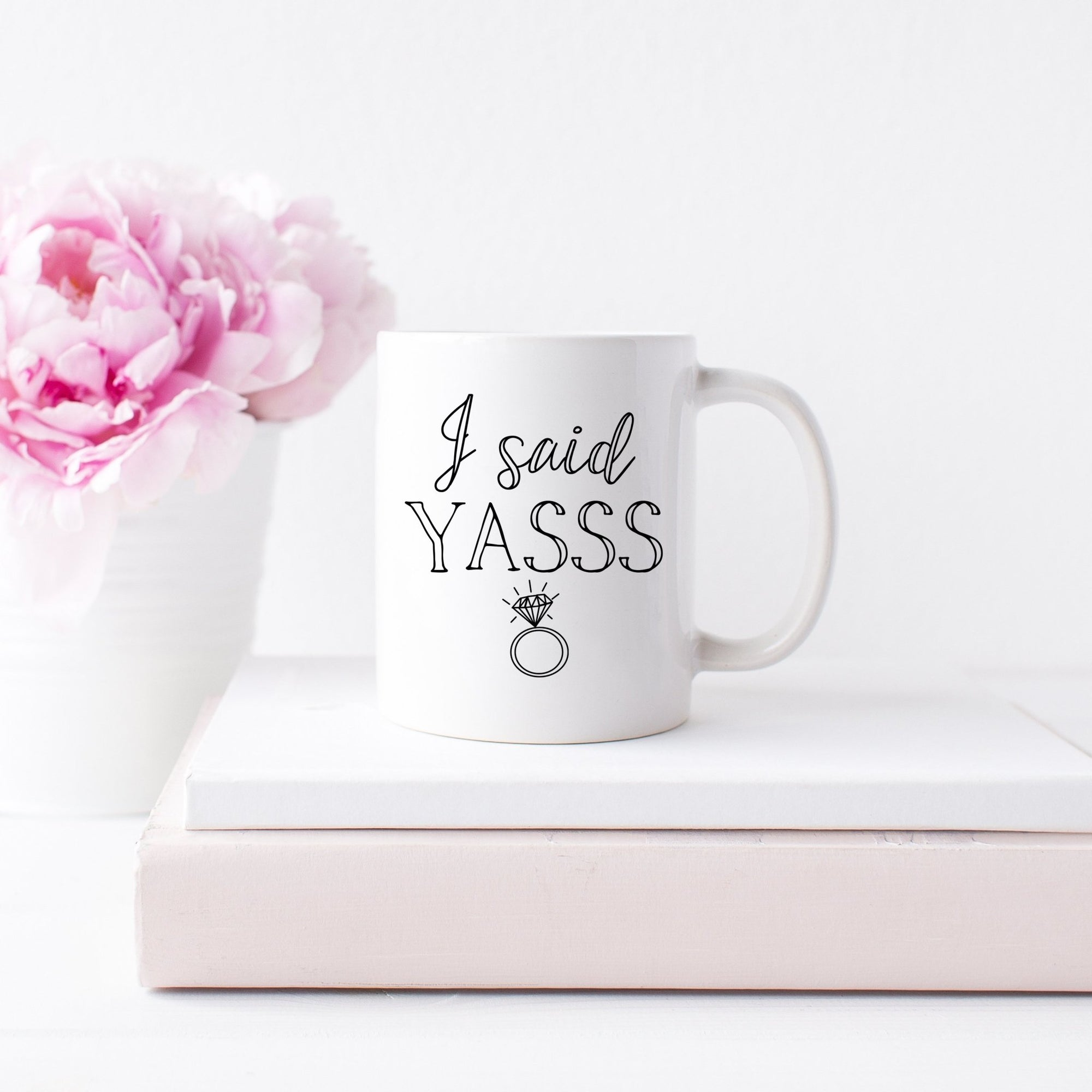 I Said Yasss Coffee Mug - Sprinkled With Pink #bachelorette #custom #gifts