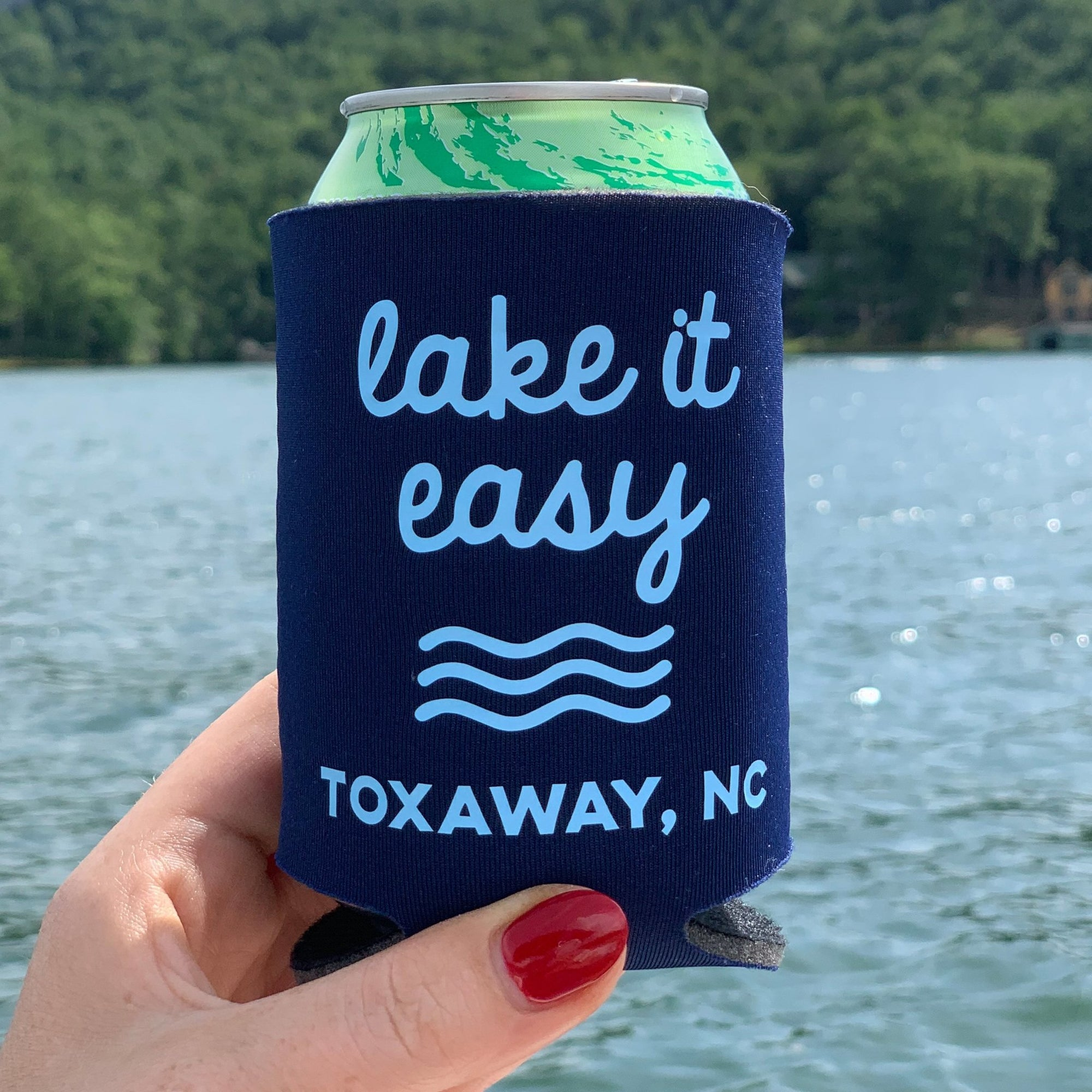 Lake it Easy Can Cooler - Sprinkled With Pink #bachelorette #custom #gifts