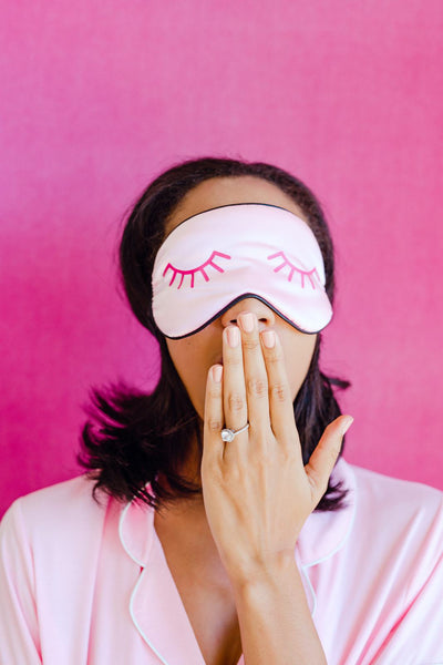 Lashes Sleep Mask - Sprinkled With Pink #bachelorette #custom #gifts
