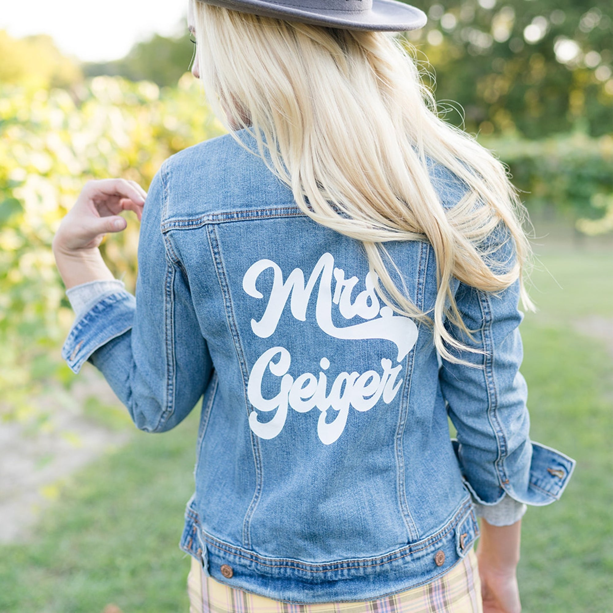 Last Name Denim Jacket, Retro