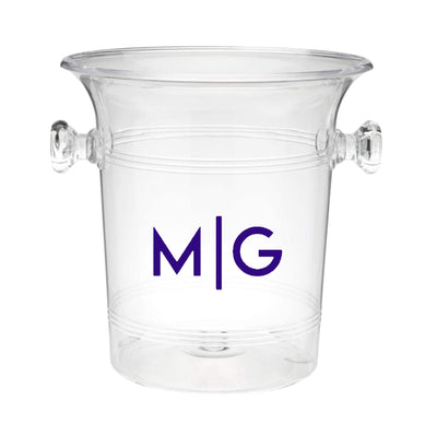 Line Monogram Ice Bucket - Sprinkled With Pink #bachelorette #custom #gifts