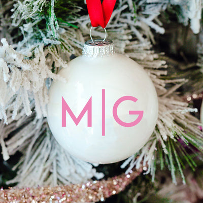 Line Monogram Ornament