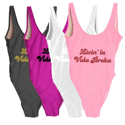 Living' la Vida Broka Swimsuit - Sprinkled With Pink #bachelorette #custom #gifts