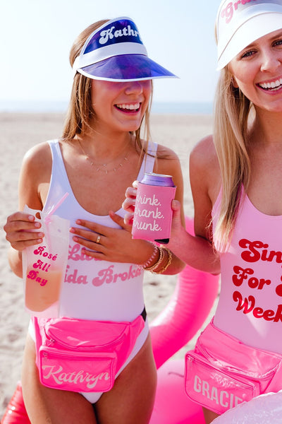 Living My Best Life Swimsuit - Sprinkled With Pink #bachelorette #custom #gifts