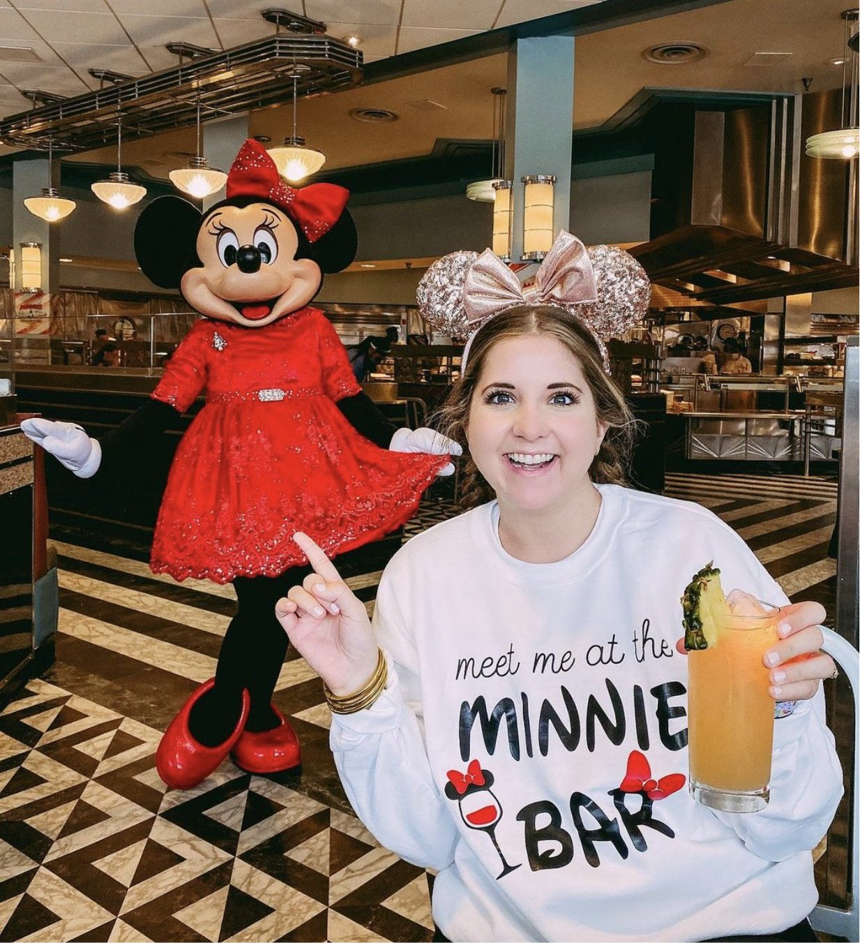 Meet me at the Minnie Bar Sweatshirt - Sprinkled With Pink #bachelorette #custom #gifts