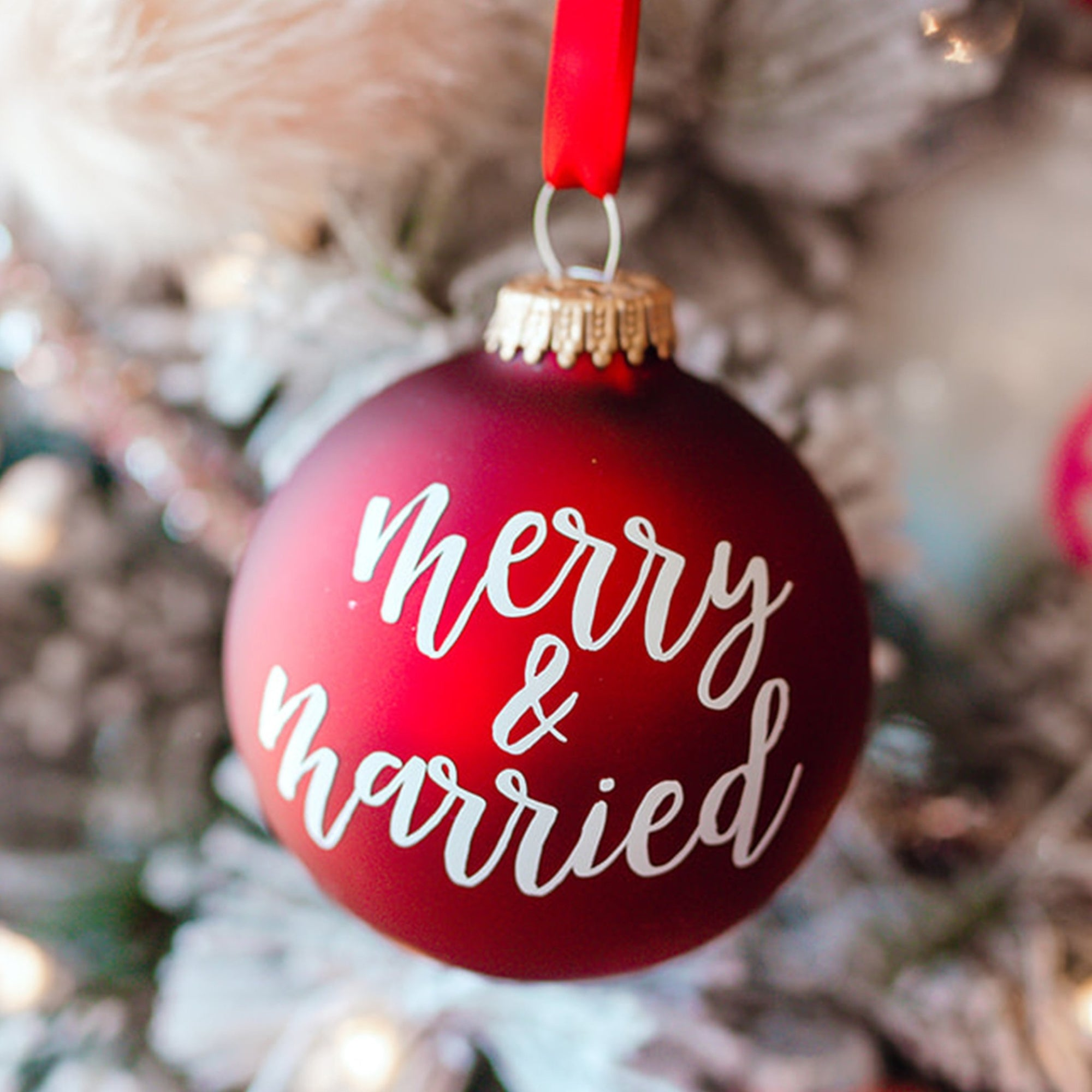Merry & Married Monogram Ornament