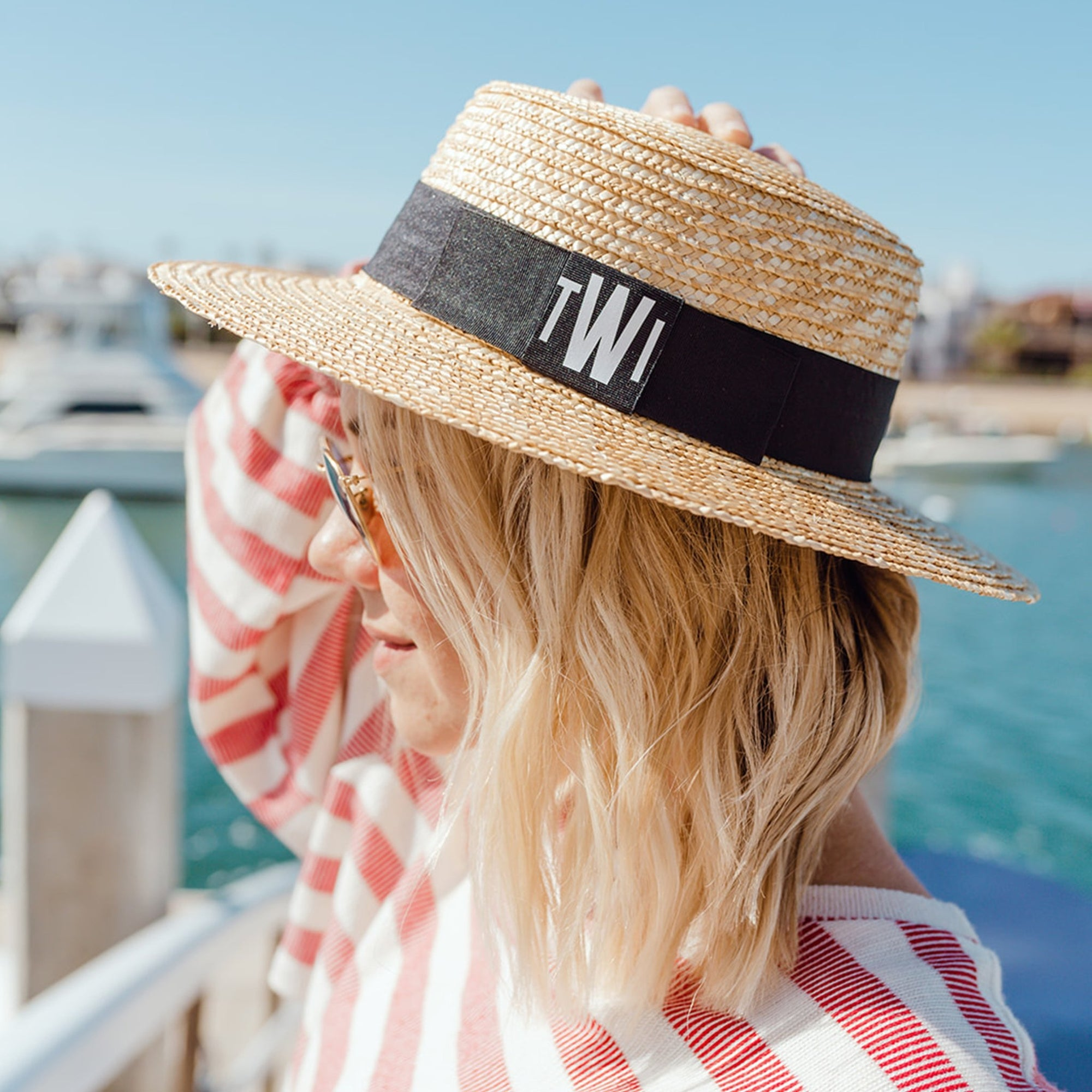Monogram, Boater Hat