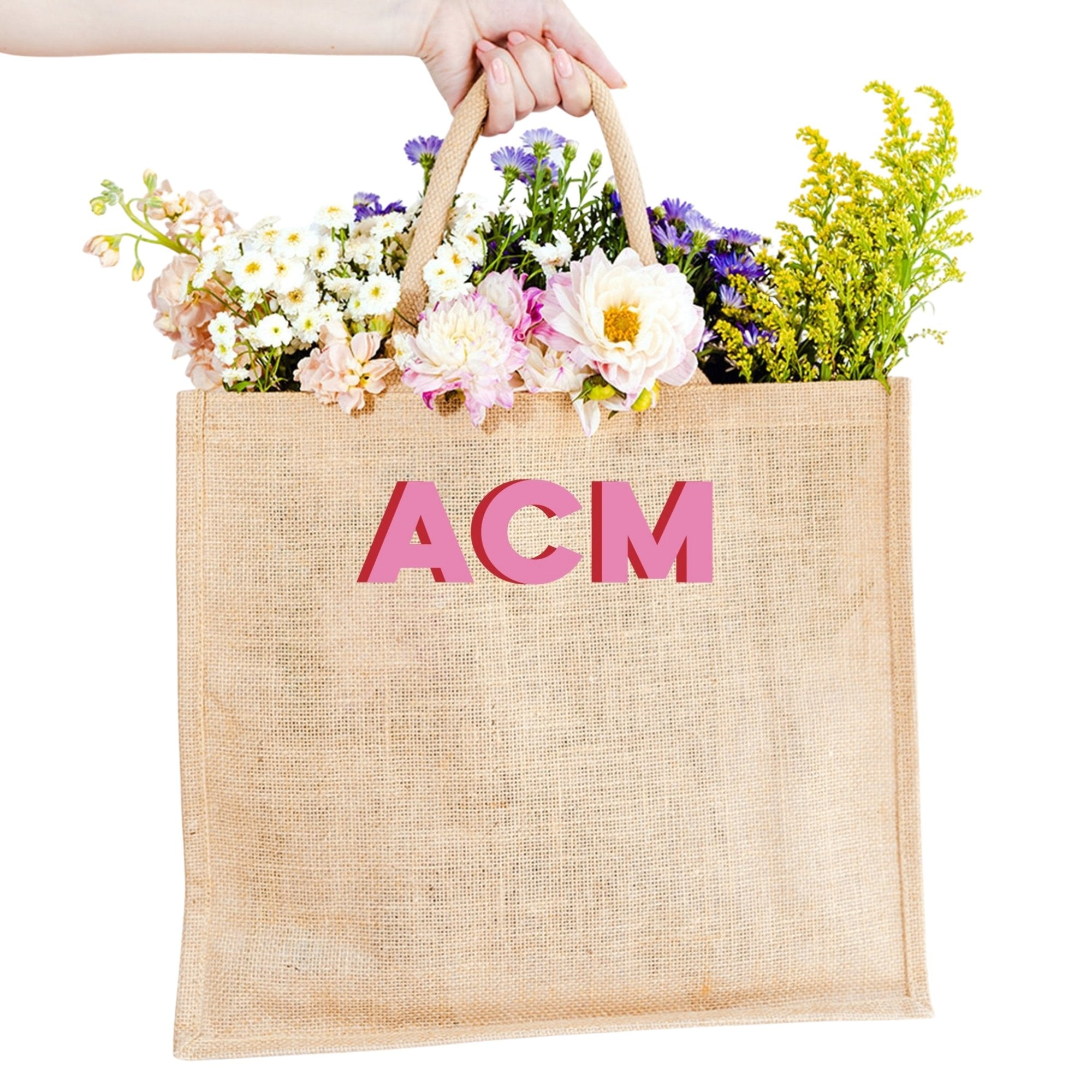 Monogram Jute Carryall