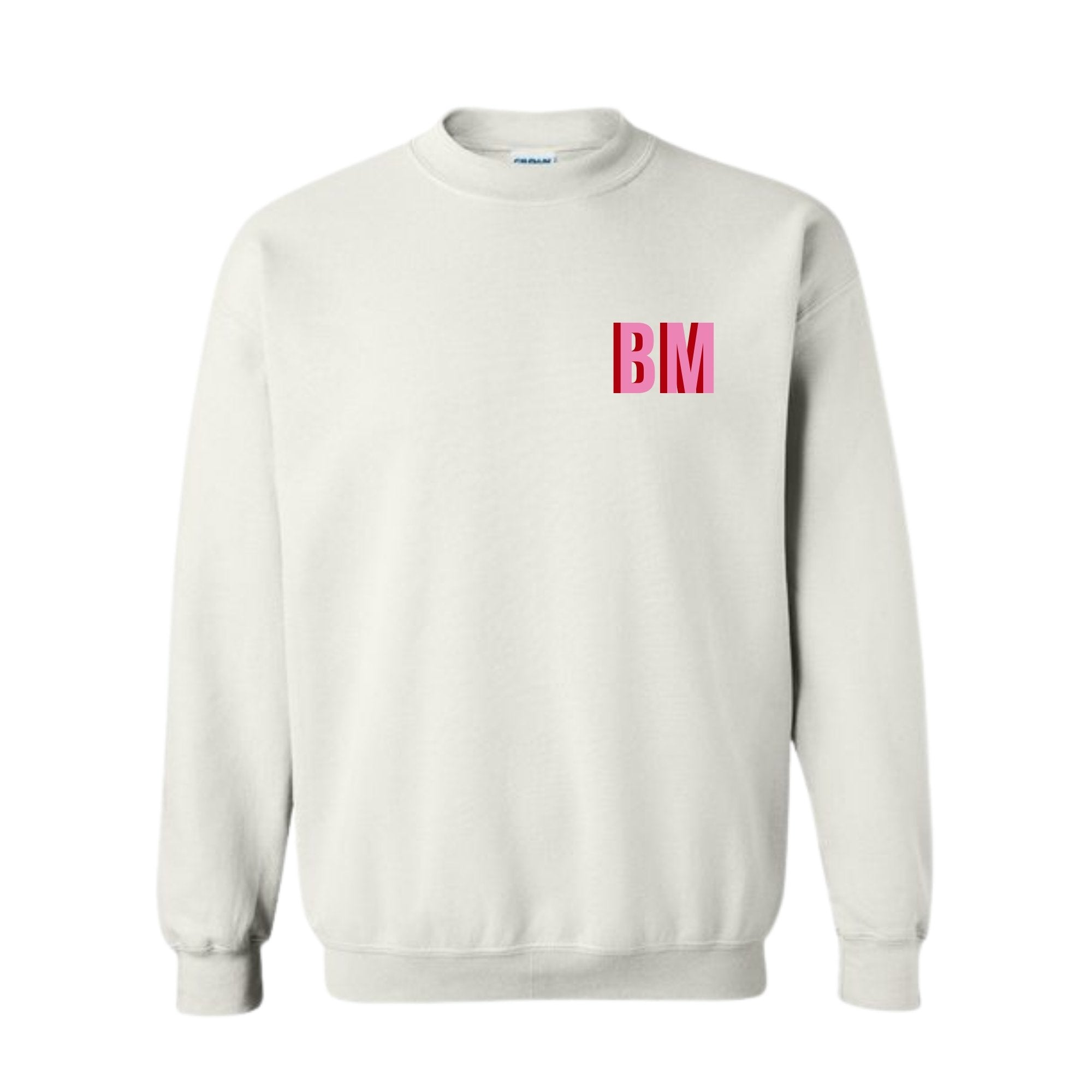 Monogram Sweatshirt - Sprinkled With Pink #bachelorette #custom #gifts
