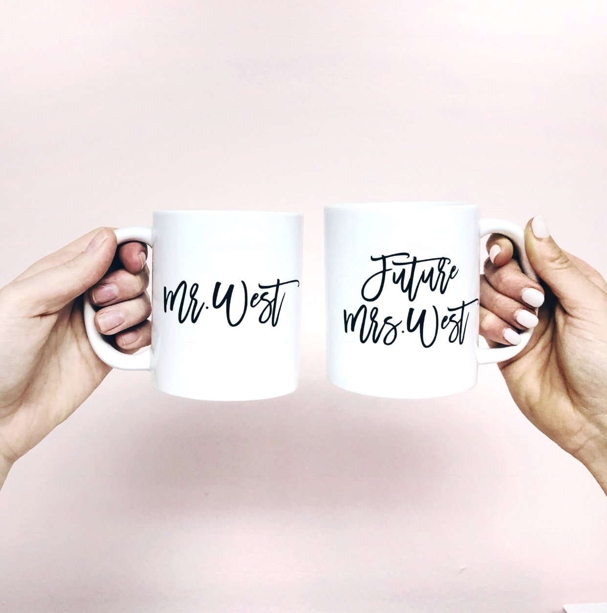 Mr & Future Mrs Coffee Mug - Sprinkled With Pink #bachelorette #custom #gifts