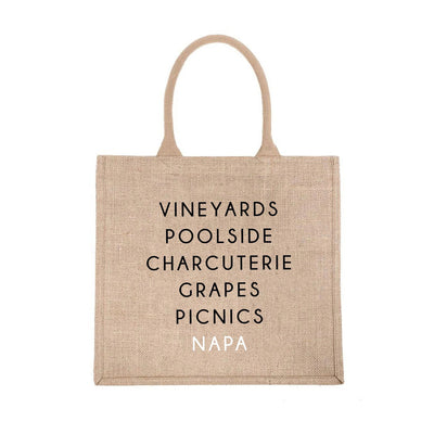 Napa City Jute Carryall