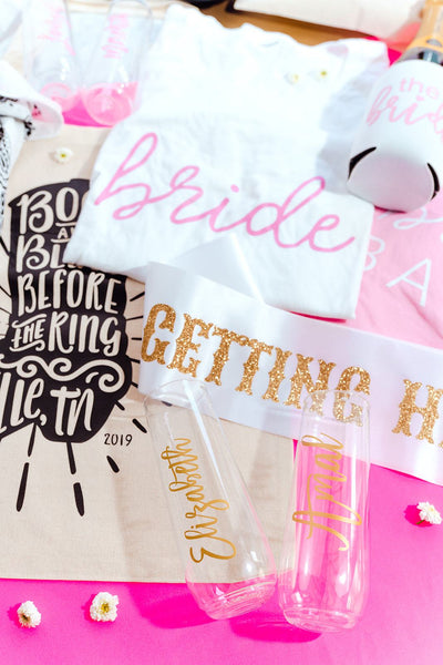 Nashville Bachelorette Tote - Sprinkled With Pink #bachelorette #custom #gifts