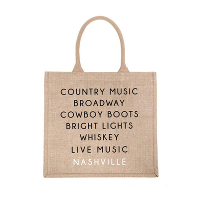 Nashville City Jute Carryall
