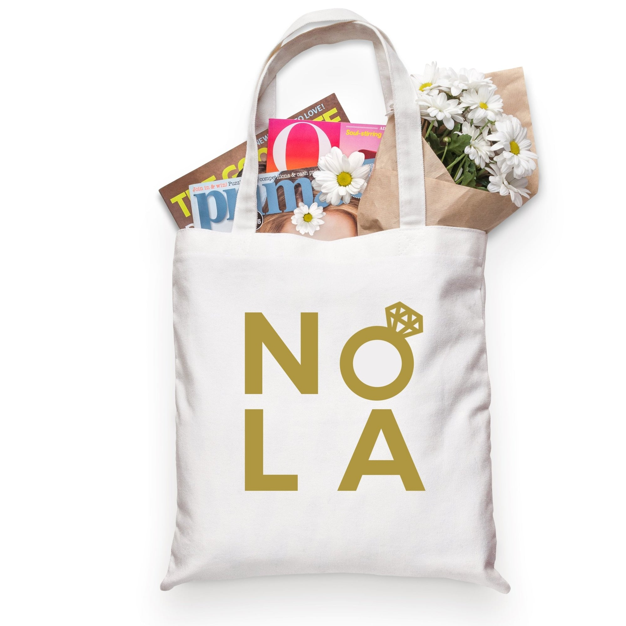 NOLA Tote - Sprinkled With Pink #bachelorette #custom #gifts