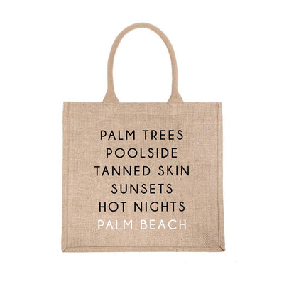 Palm Beach City Jute Carryall