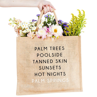 Palm Springs City Jute Carryall
