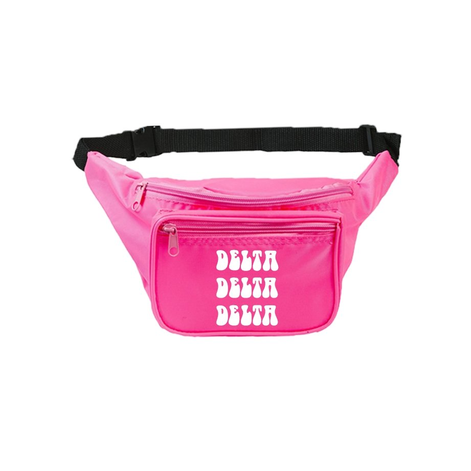 Pink Groovy Sorority Fanny Pack