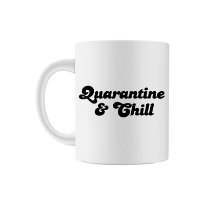 Quarantine & Chill Coffee Mug - Sprinkled With Pink #bachelorette #custom #gifts