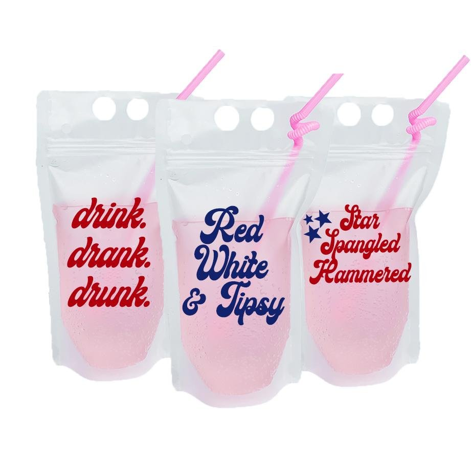 Red, White and Tipsy Party Pouch