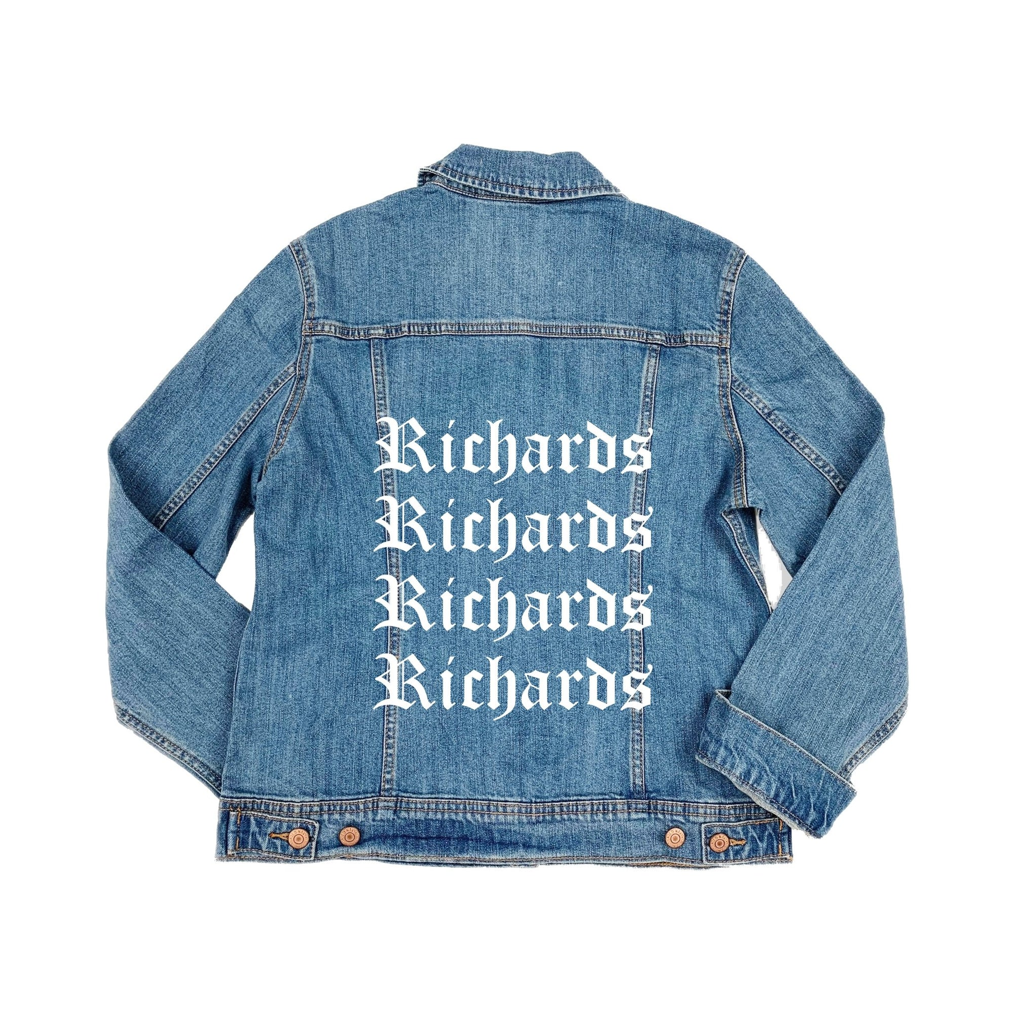 Repeat Denim Jacket - Sprinkled With Pink #bachelorette #custom #gifts