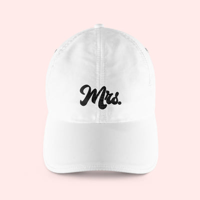 Retro Mrs Baseball Hat - Sprinkled With Pink #bachelorette #custom #gifts