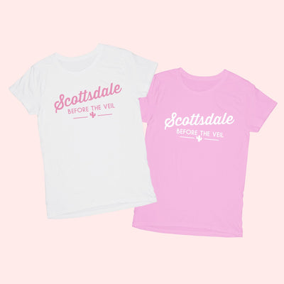Scottsdale Before the Veil Shirt - Sprinkled With Pink #bachelorette #custom #gifts