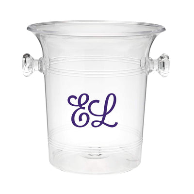 Script Monogram Ice Bucket - Sprinkled With Pink #bachelorette #custom #gifts