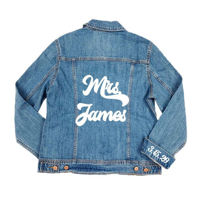 Send Us Your Denim Jacket - Sprinkled With Pink #bachelorette #custom #gifts