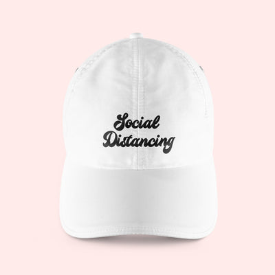 Social Distancing Baseball Hat - Sprinkled With Pink #bachelorette #custom #gifts