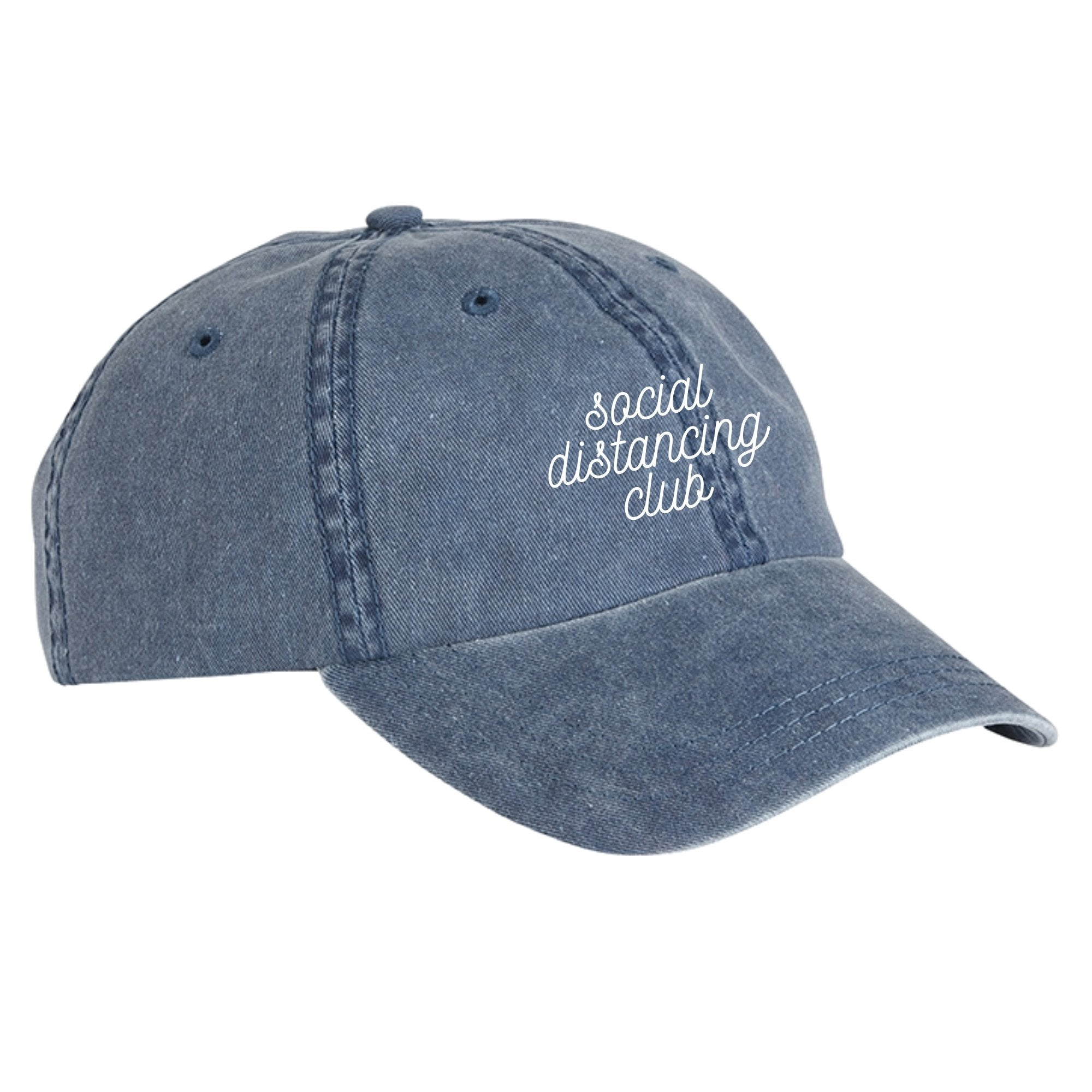 Social Distancing Club -  Navy Baseball Hat