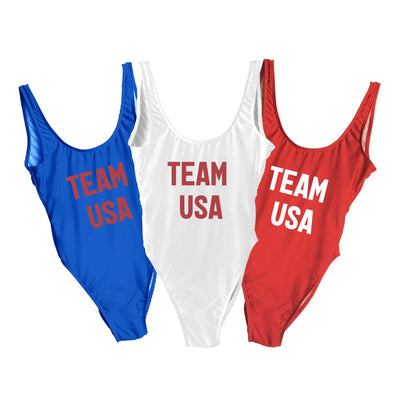 Team USA Swimsuit - Sprinkled With Pink #bachelorette #custom #gifts