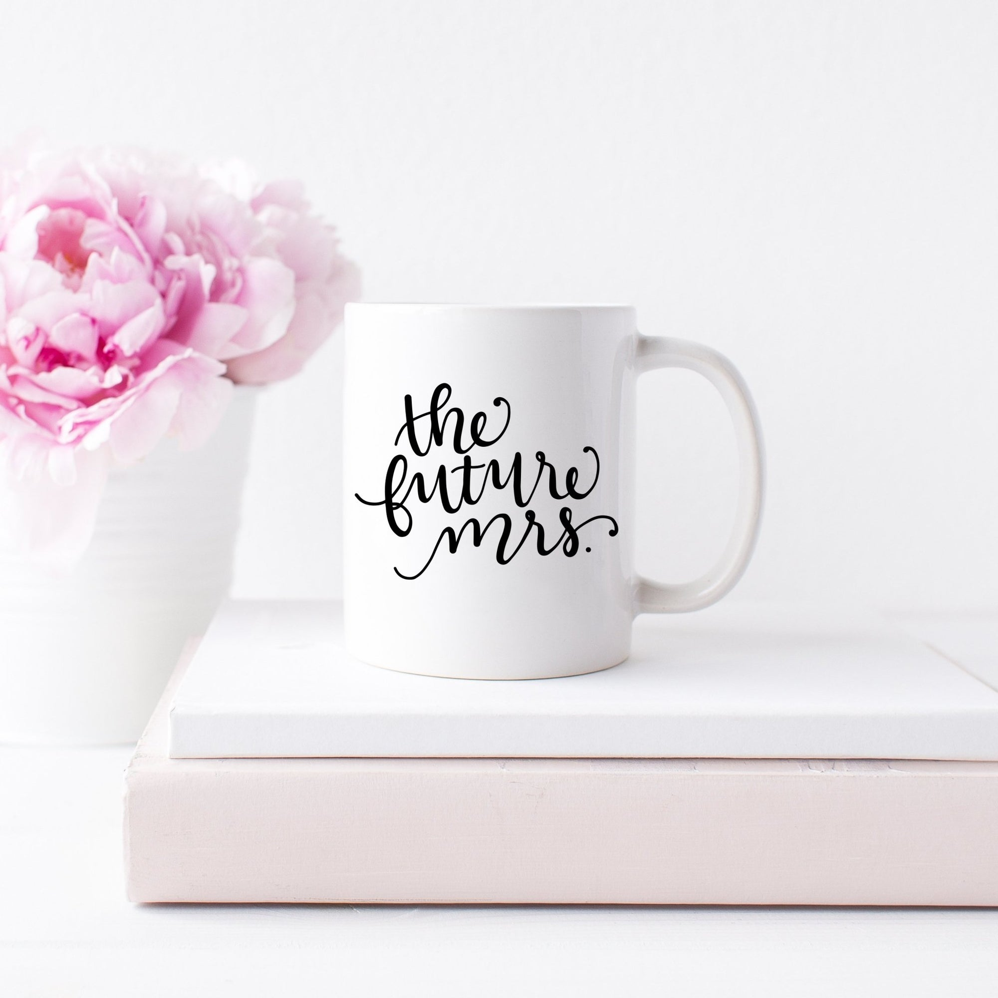 The Future Mrs. Coffee Mug - Sprinkled With Pink #bachelorette #custom #gifts