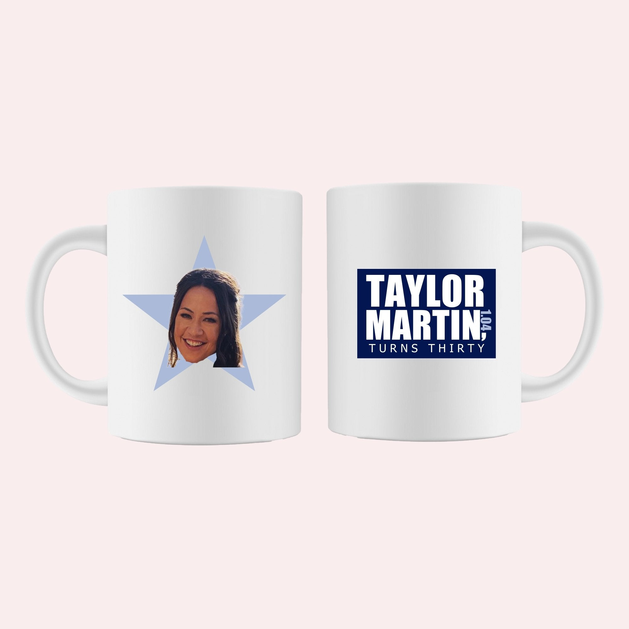 The Office Star Mug - Custom Logo - Sprinkled With Pink #bachelorette #custom #gifts