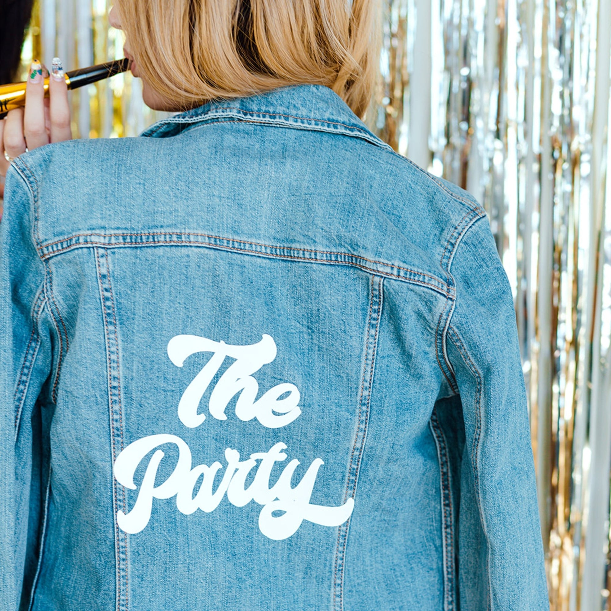 The Party Denim Jacket - Sprinkled With Pink #bachelorette #custom #gifts