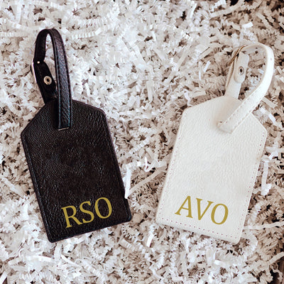 Traditional Monogram Luggage Tag - Sprinkled With Pink #bachelorette #custom #gifts