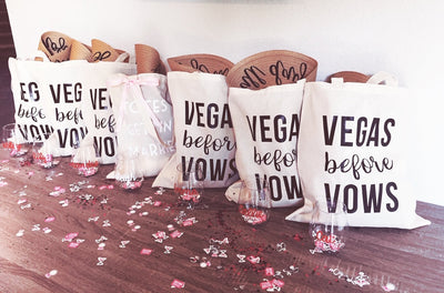 Vegas Before Vows Tote - Sprinkled With Pink #bachelorette #custom #gifts