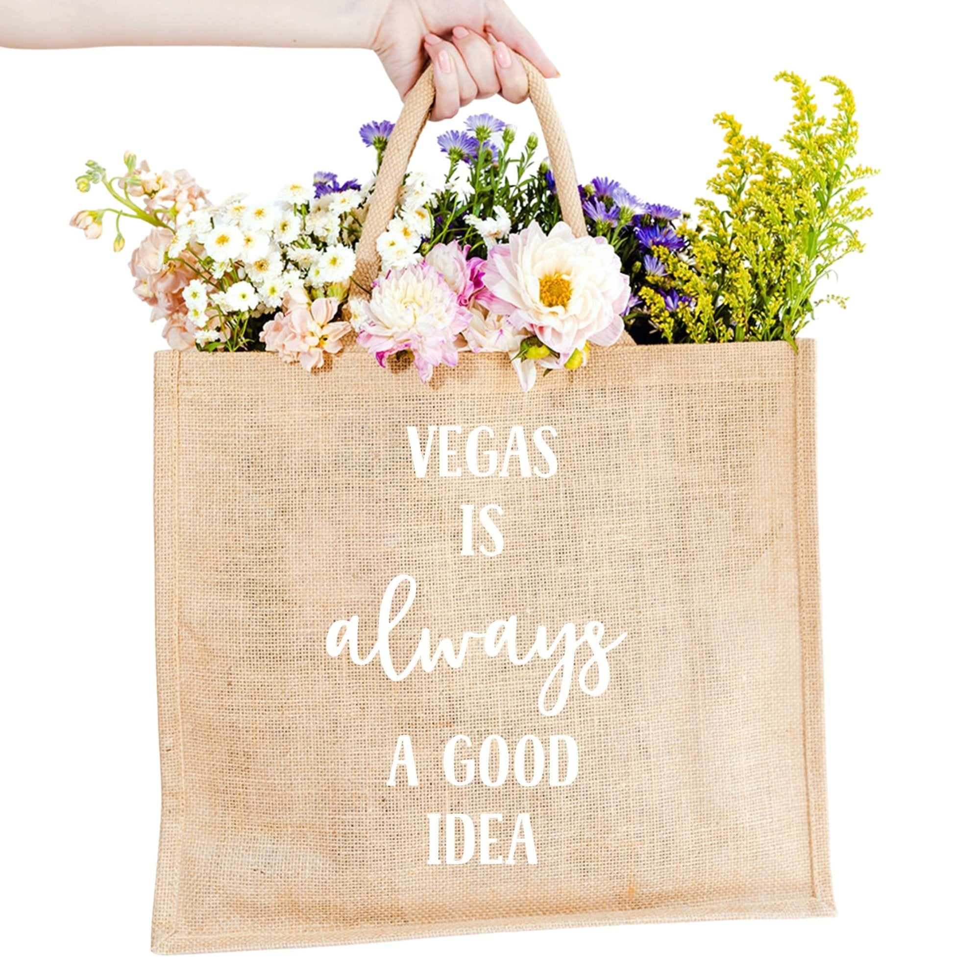 Vegas is Always A Good Idea Jute Carryall