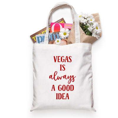 Vegas Is Always A Good Idea Tote - Sprinkled With Pink #bachelorette #custom #gifts
