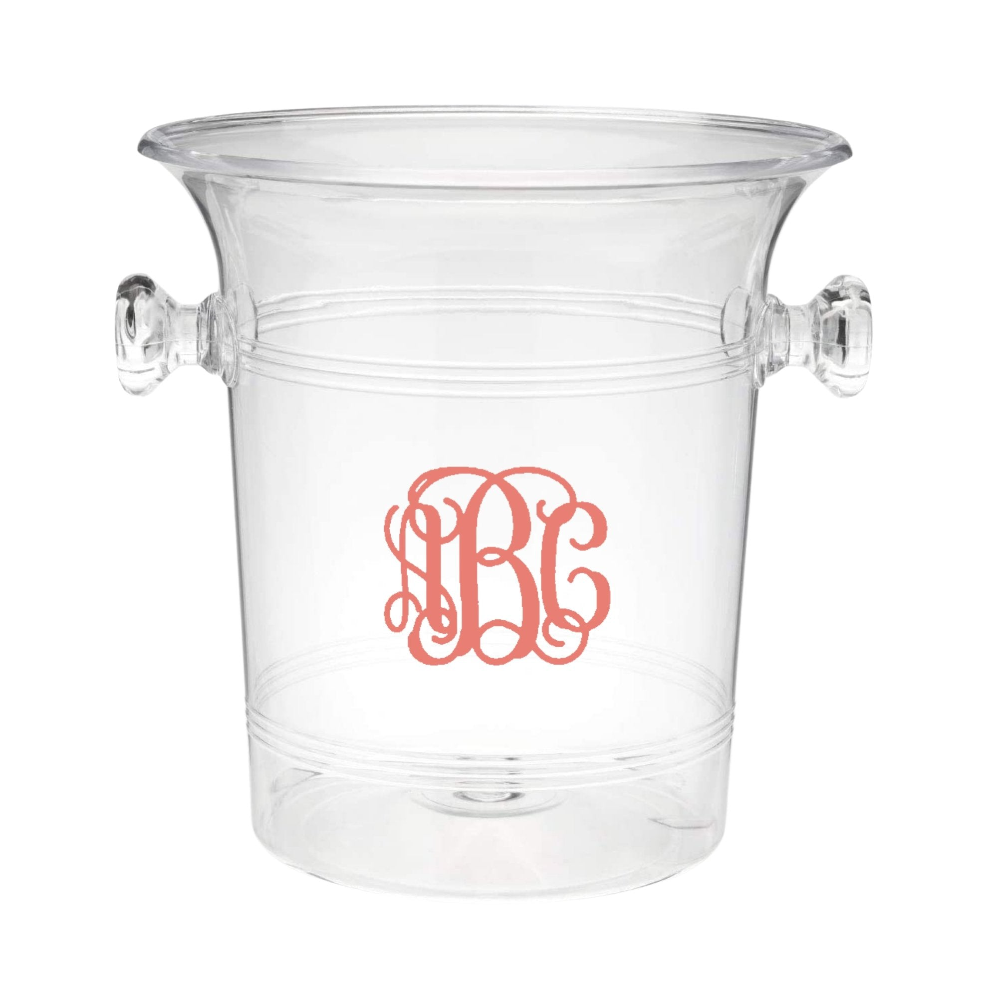 Vine Monogram Ice Bucket - Sprinkled With Pink #bachelorette #custom #gifts