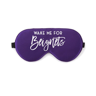 Wake Me for Beignets Sleep Mask - Sprinkled With Pink #bachelorette #custom #gifts