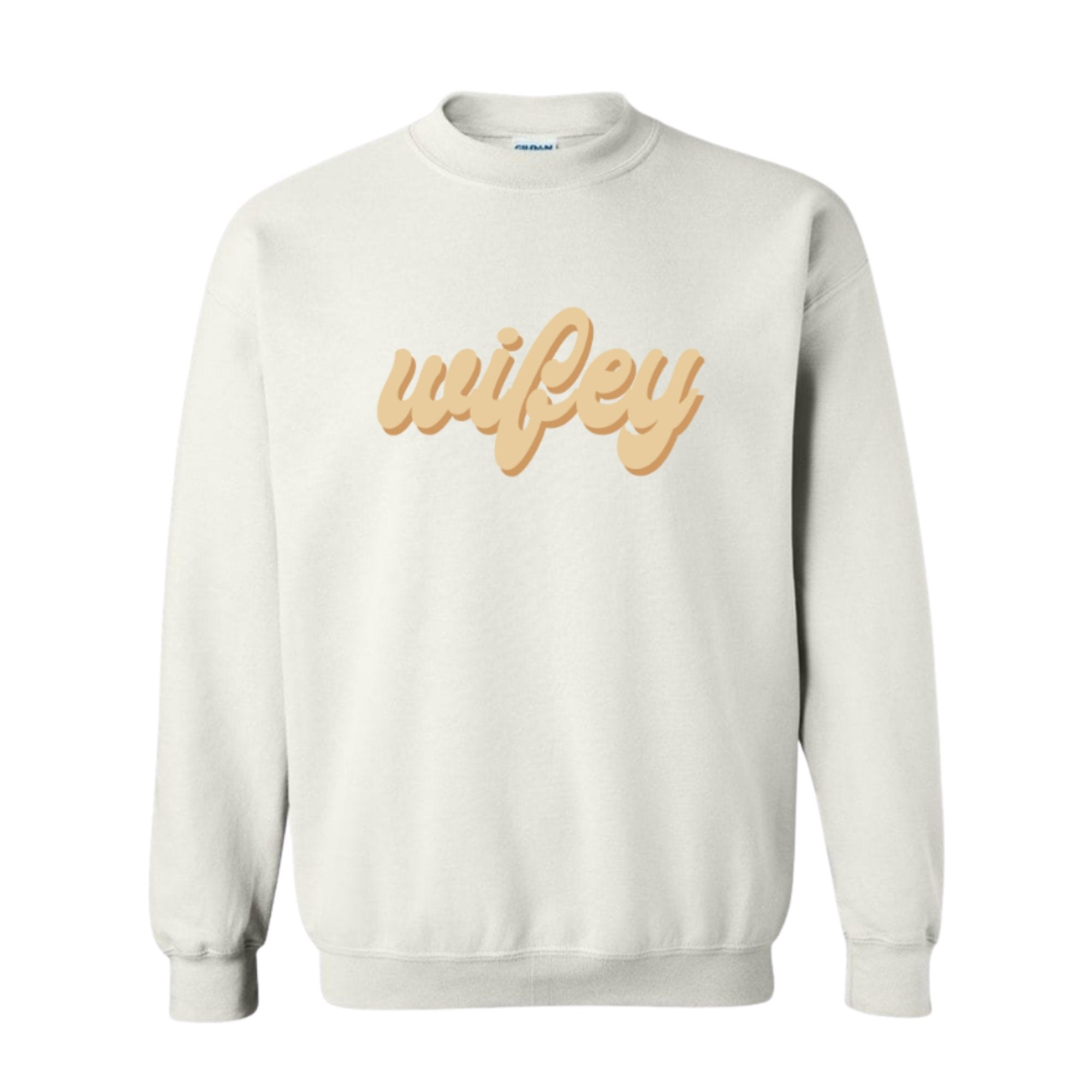 Wifey Sweatshirt - White - Sprinkled With Pink #bachelorette #custom #gifts
