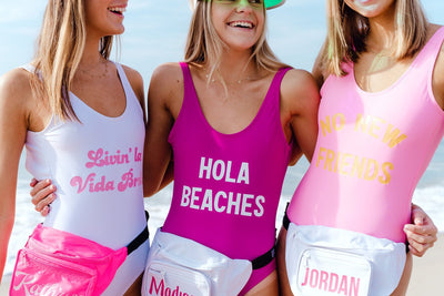 Worst Behavior Swimsuit - Sprinkled With Pink #bachelorette #custom #gifts