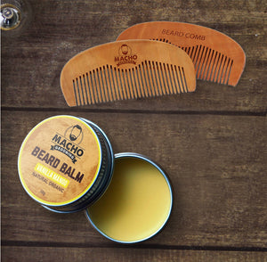 Beard Balm & Beard Comb Kit - Beard Comb, Growth oil, Brushes,  trimmer & Wax