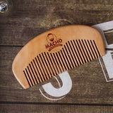 Peach Wood Beard Comb - Beard Comb, Growth oil, Brushes,  trimmer & Wax