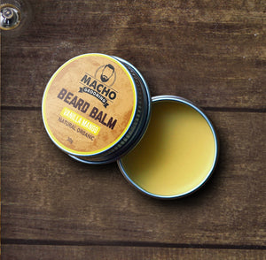 Vanilla Mango Beard & Moustache Balm - Beard Comb, Growth oil, Brushes,  trimmer & Wax