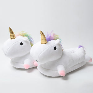 Fluffy Unicorn slippers Cute Till MAX