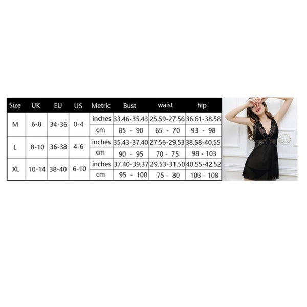 AIO Backless Cross Sexy Lingerie sleeveless Nightgowns