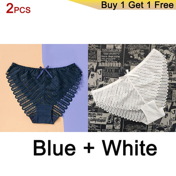 Aio DERUILADY 2PCS Sexy Perspective Lace Panties ($0.88 + Pay Shipping Only)